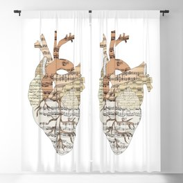 Sound Of My Heart (on white) Blackout Curtain