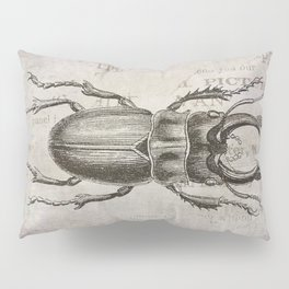 Grunge Style Stag Beetle Pillow Sham