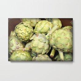Artichokes | Green | Vegetables | Kitchen |Food Photography | Nadia Bonello Metal Print