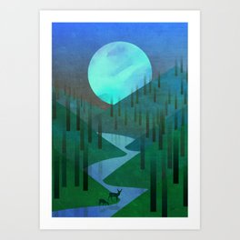 The Light of the Moon Art Print