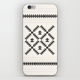 Black and White Quilt Block iPhone Skin