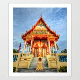 Temple Front #2 Art Print