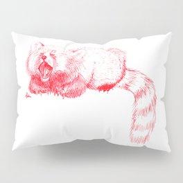 Red Panda Yawning Pillow Sham
