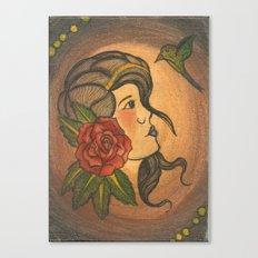 Old School Tattoo Gypsy Canvas Print