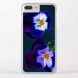 Violas Clear iPhone Case