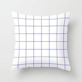 Graph Paper (Blue & White Pattern) Throw Pillow