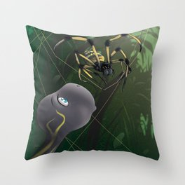 Turtle And Spider Throw Pillow