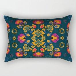 Fiesta Folk Blue #society6 #folk Rectangular Pillow