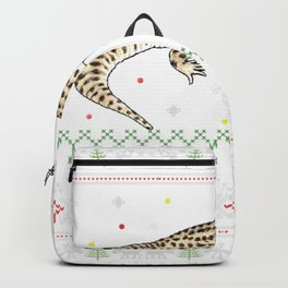 Leopard Gecko Ugly Christmas Sweater Backpack