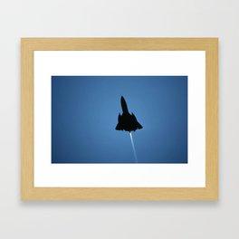 Blackbird Silhouette Framed Art Print