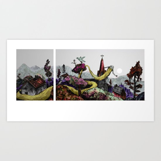 some fill their space with bearded face Art Print