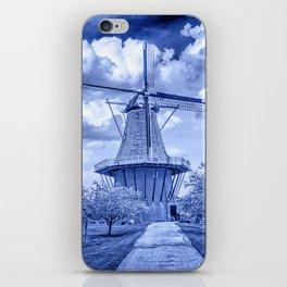 Delft Blue Dutch Windmill iPhone Skin