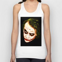 the joker Tank Tops featuring Joker by William Cuccio aka WCSmack