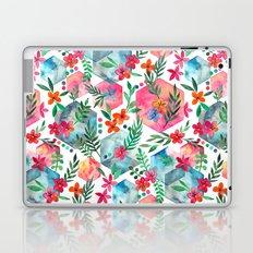 Whimsical Hexagon Garden on white Laptop & iPad Skin