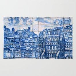 Lisbon portugal Azulejo Tile art Rug
