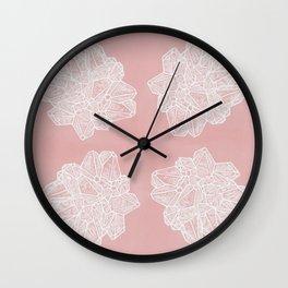 Vintage Geode Stone Pattern in Pink Wall Clock