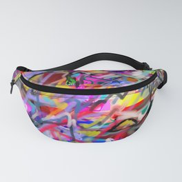Wanting and liking (abstract painting) Fanny Pack