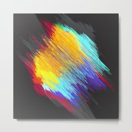 Streaky color patch Metal Print