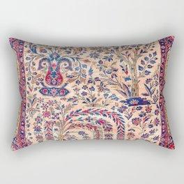Silk Kashan Central Persian Rug Print Rectangular Pillow