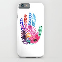 Wild at Heart · Botanical · Florals · Ferns · Hand Art · Lefties · Quote iPhone Case
