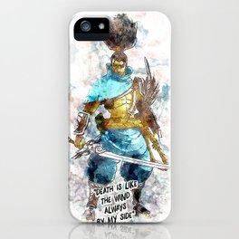 Death is like the Wind iPhone Case