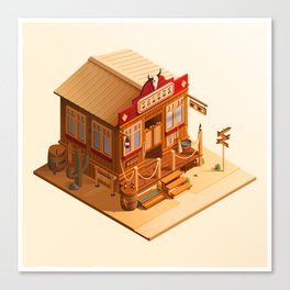 Western Saloon Canvas Print