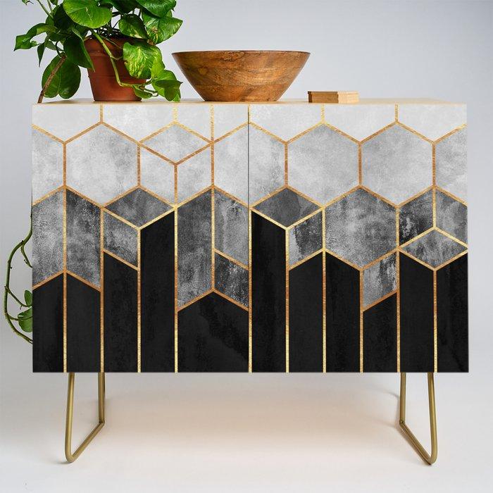 Charcoal Hexagons Credenza