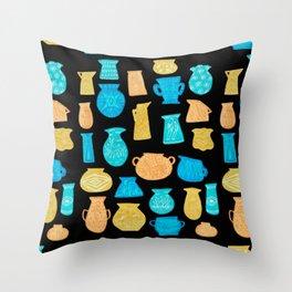 1960s Pottery by Amanda Laurel Atkins Throw Pillow