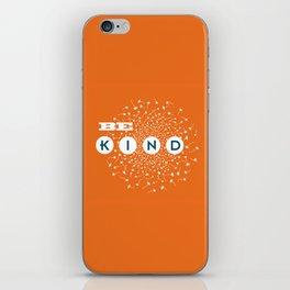 Be Kind (orange/blue) iPhone Skin