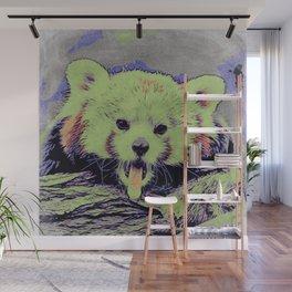 Art Studio 12216 yawning red panda  Wall Mural