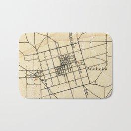 Vintage Map of Anaheim California (1894) Bath Mat