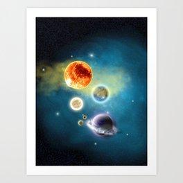 New Solar System Art Print