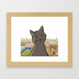 City Cat Framed Art Print