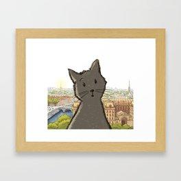 City Cat Framed Art Print