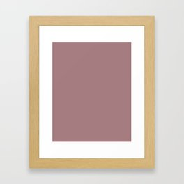 The color of cocoa Framed Art Print