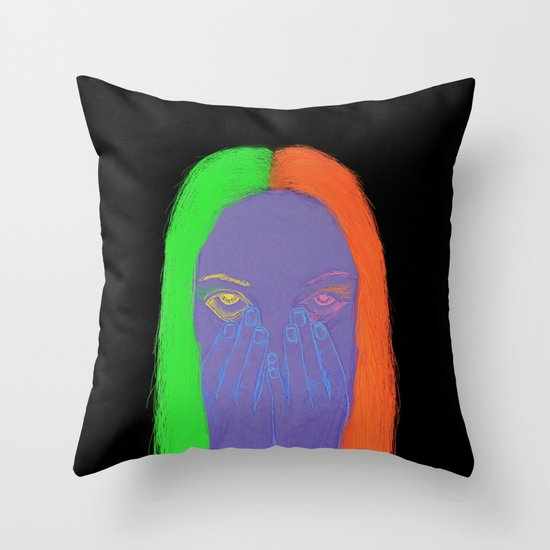 teenage angst Throw Pillow