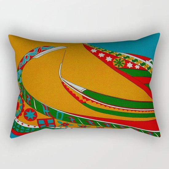 Portuguese Fishing Boats - Vintage Travel Rectangular Pillow