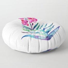 Blooming Orchid – Fuchsia & Indigo Palette Floor Pillow