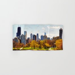 Chicago Panorama Hand & Bath Towel