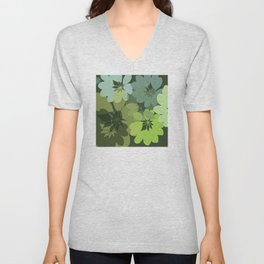 DG  Flowers Shape Unisex V-Neck