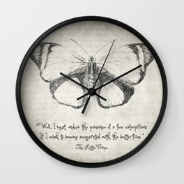 Butterfly Quote - The Little Prince Wall Clock