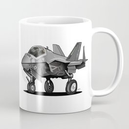 F35 Fighter Jet Airplane - F-35C Lightning II Joint Strike Fighter Cartoon Coffee Mug