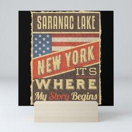 Saranac Lake New York Mini Art Print
