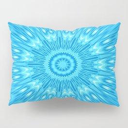 Blue turquoisE Mandala Expolosion Pillow Sham