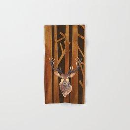 Proud deer in forest 1- Watercolor illustration Hand & Bath Towel