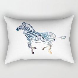 Running Zebra Abstract Rectangular Pillow