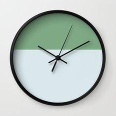 Color Block Blue Wall Clock