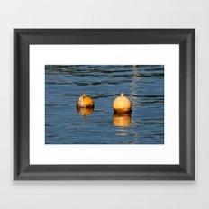 Mooring buoys 016 Framed Art Print