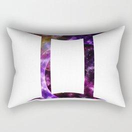 Galactic Gemini Rectangular Pillow