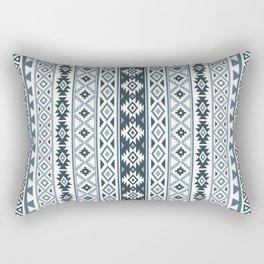 Aztec Stylized Pattern Gray-Blues & White Rectangular Pillow